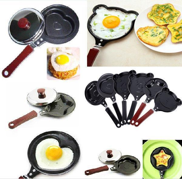 Mini Egg Panqueca Frigideira Bonito Criativo Cozinha Ferramenta Fogão Panela Anti-Vara Novo