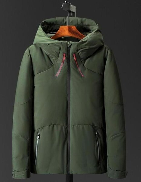 2019 Men Winter Jackets Coats Warm Down Jacket Outdoor Hooded Men's Face Down Parkas 8015