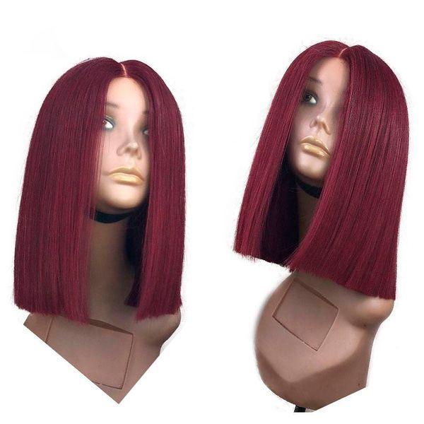 2019 100% необработанный реми девы человеческих волос 1bt99j средний шелковистый прямой полный парик шнурка для женщин