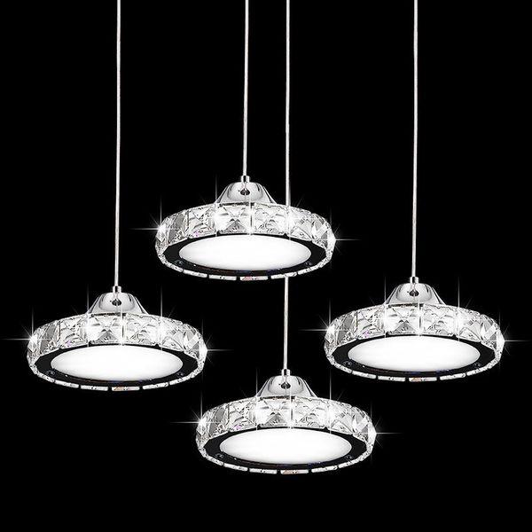 Compre Bar Sala Colgante Anillo Para Moderno Luces Araña LED Diamante Colgantes Cafe De Estar Accesorio De Lámpara Cristal Creativo Redondo hQrdCxts
