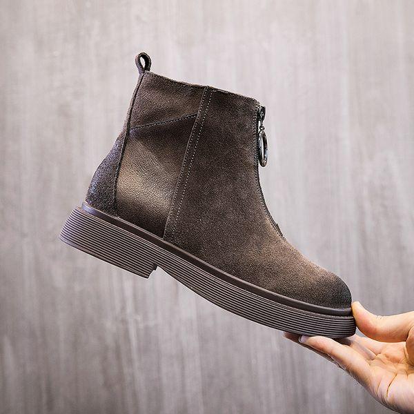 khaki Single shoes