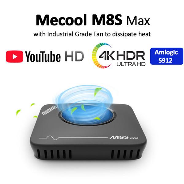 Amlogic S912 3 GB 32 GB Mecool M8S Max Android 7.1 TV KUTUSU 2.4G / 5G WiFi BT4.1 100 M Ethernet Seti TV KUTUSU Medya Oynatıcı
