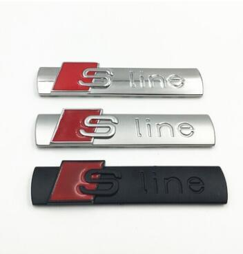 Car Styling Ligne Audi Sticker Couverture pour Audi Sline Logo A3 A4 A5 A6 Q3 Q5 Q7 B7 B8 C5 S6 Auto Décalque Accessoires Bonne Qualité