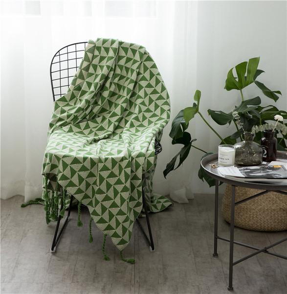Nordic throw bed copridivano coperta grigia coperta filato singolo asciugamano colore morbido coperta 120x170cm due colori