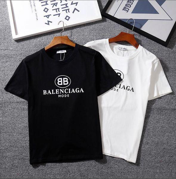 68b2b1df1786 2019 Couple Tops Designer Fashion Letters Casual Breathable Men's Women's BALENCIAGA  T-Shirt Short Sleeve