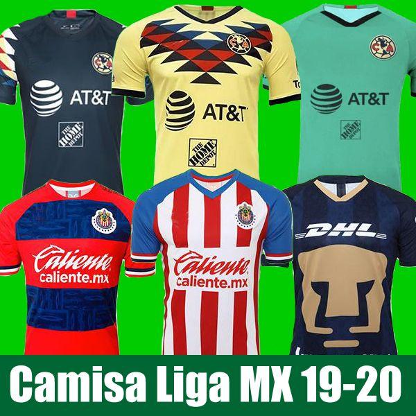 LIGA MX 2019 20 Club America Soccer Jerseys 2020 Club de Cuervos Home Away Third UNAM Guadalajara Chivas kit Jersey 19 20 Football Shirts