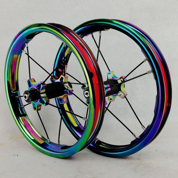 Set di ruote per scorrimento per biciclette per bambini Set di ruote da 12 pollici Accessori per passeggini per pneumatici BMX