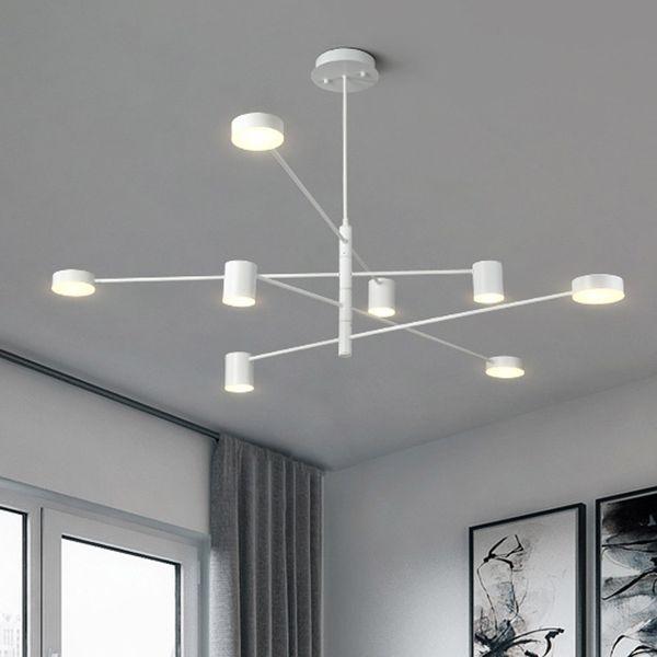 Compre Moderno Colgante LED De Luz Comedor Nórdico Cocina Lámpara Lámparas  Colgantes Grandes Luminaria Negro Blanco Oro 90 265V A $198.6 Del Delin |  ...