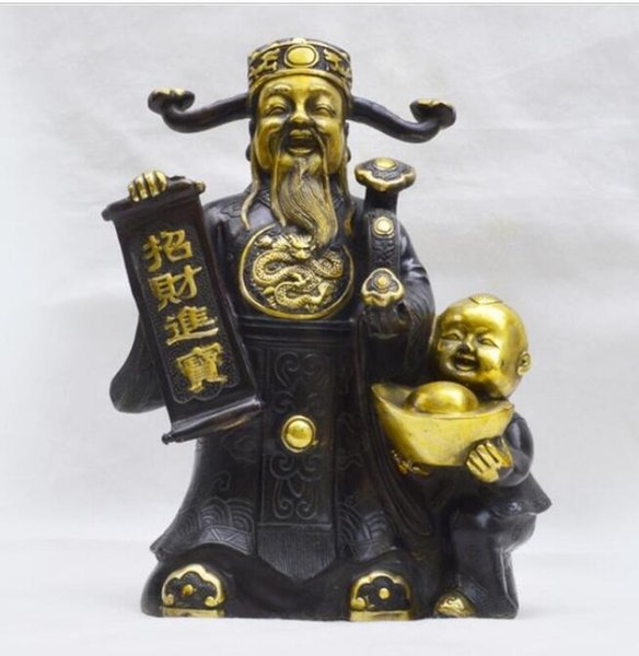 NEW +++Manufacturers selling high-end Home Furnishing decoration business office bronze metal crafts gifts God ornaments who