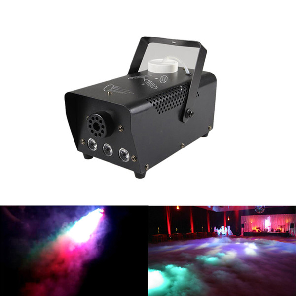 best selling AUCD Mini 400W RGB LED Remote Control Portable White Smoke Fog Machine Stage Lights Smoke Effect for Party Stage DJ Decoration Smoke-RGB400