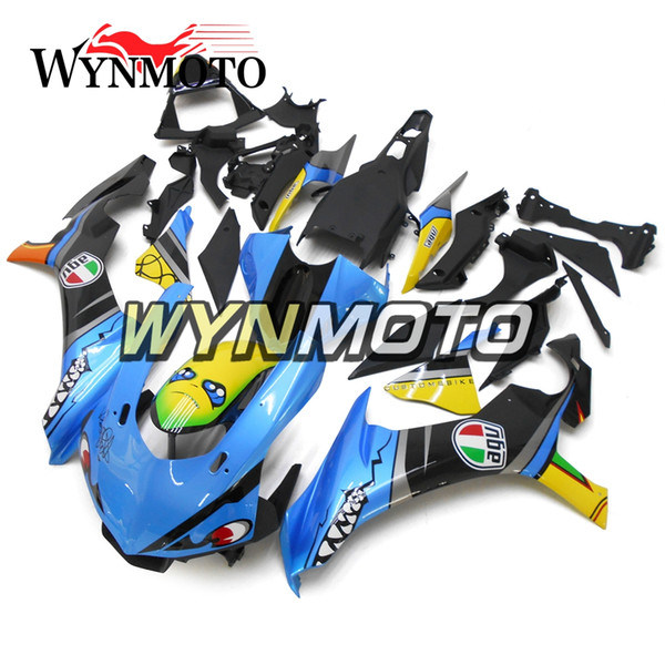 Carenados de motocicleta para Yamaha YZF 1000 R1 2015 2016 ABS plástico inyección Blue Shark carenados de moto Cubiertas Kits Sportbike