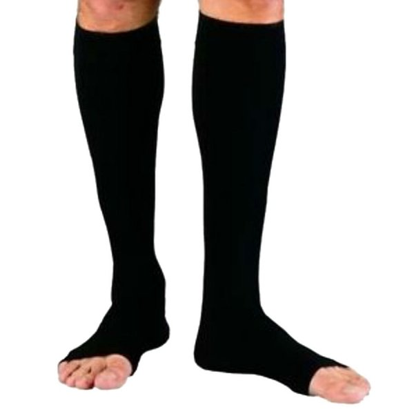 Mulheres Zipper Meias De Compressão Confortável Zip Leg Apoio Do Joelho Sox Toe Meia Aberta S / M / XL transporte da gota Mais Novo
