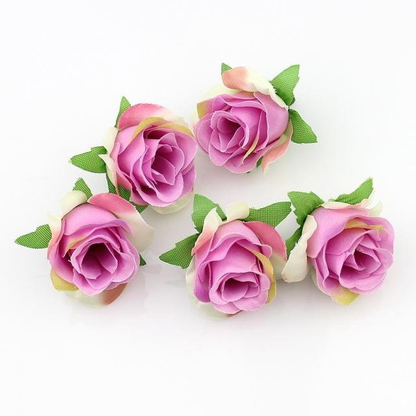Artificial Silk Flowers Rose Head DIY Flower Ball Festival Home Wedding Decoration Accessories 50pcs/lot Fake Plant