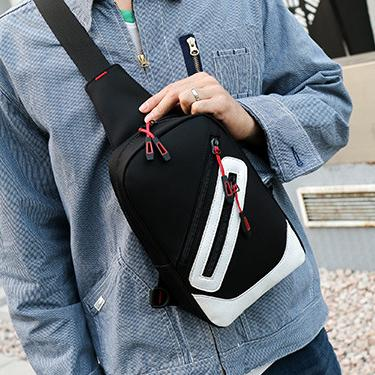 Simple Style Day Pack Mens Shoulder Bag Mens Chest Bag Mens Cross Body 3 Colors Casual B102114Z