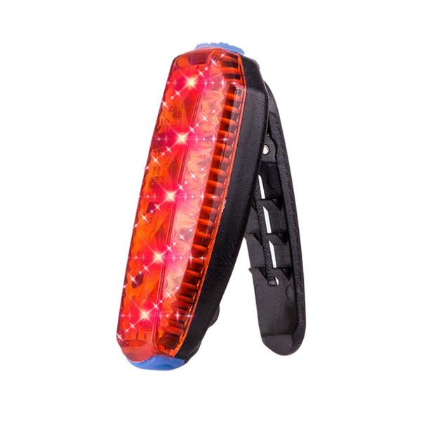 Led bici Fanale posteriore esecuzione della clip del sacchetto della luce Usb Attenzione esterna impermeabile di sport della bici della strada lampada della bicicletta