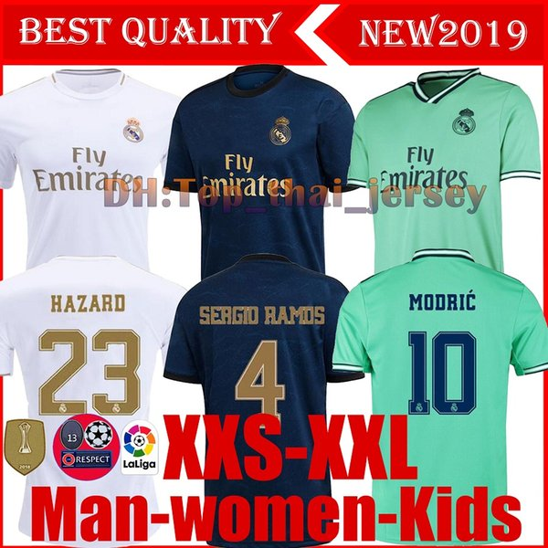 19 20 Real madrid football Jersey Benzema JOVIC MILITAO Modric Ramos Bale HAZARD 2019 2020 adult man woman kids boy sports Soccer shirt