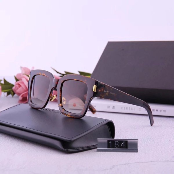 Designer Sunglasses Luxury Sunglasses Designer Glass for Man Woman Adumbral Glasses UV400 with Box High Quality Brand Y184 5colors Hot sale