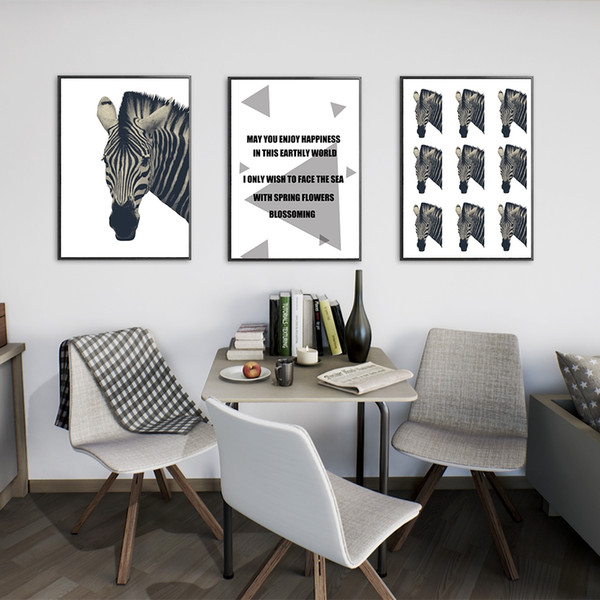 2019 Zebra Abstract Oil Painting Set In Home Decor Living Room Bedroom  Without Frame Art Canvas Wall Art From Inoecom4, $8.32 | DHgate.Com