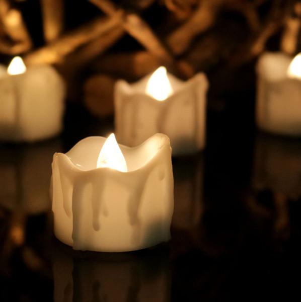 Led Candele elettriche Tealight Flicker Lampeggiante Candela Flameless Pillar Romance Tea Light Decorazione natalizia