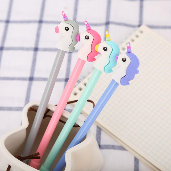 Hot Sale New Designer 0.5mm Cartoon Unicorn Gel Pen Creative Korean Individual Stationery For Kids Children Students Office School Supplies
