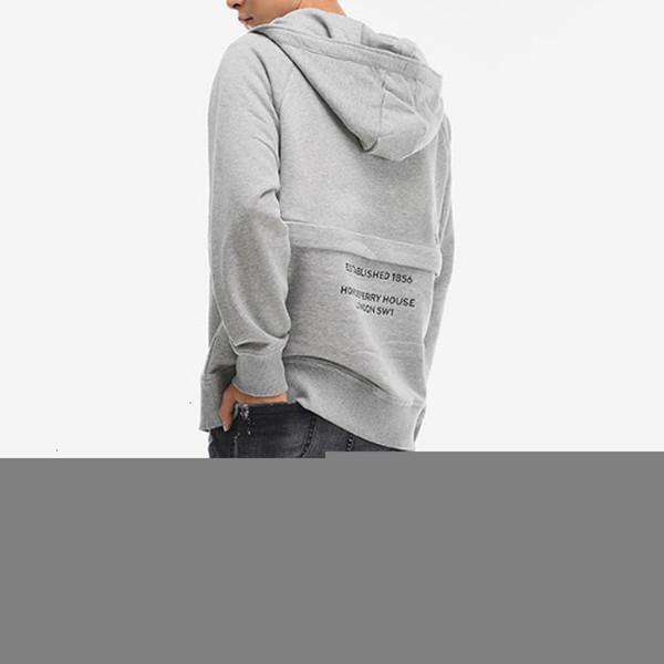 FASHION- avant poche arrière Lettre Imprimé Hoodies Casual Street Fashion Sweat à capuche Couple Pure Color Sweat oversize HFHLWY076
