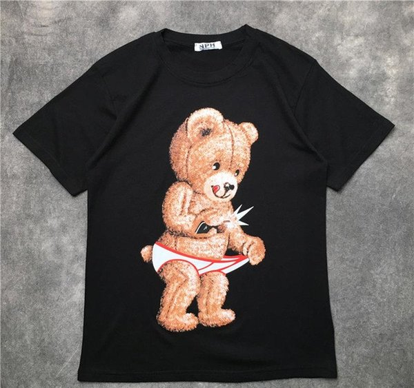 20ss Luxury Mens Designer T Shirt Hip Hop Men Women T Shirt Bear Printed Short Sleeve Streetwear Size S-XXL
