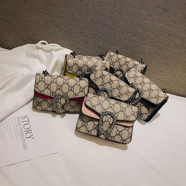 Kids Designer Purses Baby Girls Mini Princess Pruses Fashion Classic Pattern Design Kids Chain Cross-body Bags Candly Bag Birthday Gifts