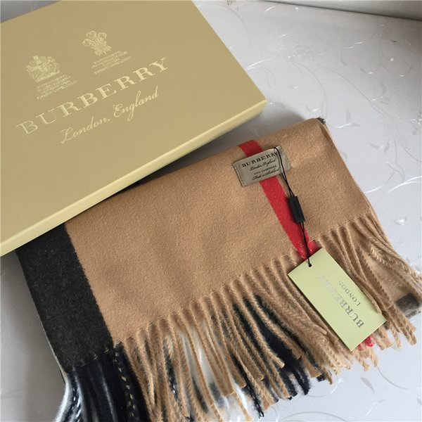 Bufanda de lana de invierno diseñador clásico plaid bufanda bufanda de moda bufanda de cachemira de imitación gruesa para hombres y mujeres, 200 * 70 cm