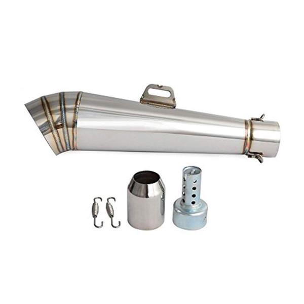 Motorcycle Stainless Steel GP Exhaust Muffler Pipe Slip-On 38-51mm w/DB Killer