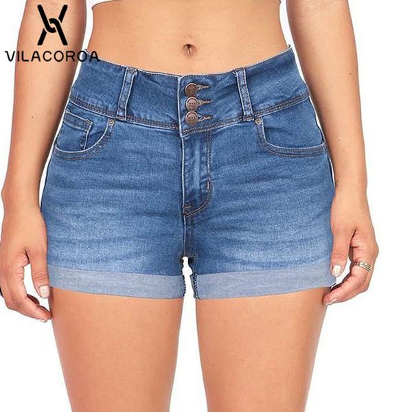 Mujer Hibote Pantalones Cortos Para Mujeres Shorts De Mezclilla Moda Cintura Alta Rasgados Shorts Casual Denim Shorts Jeans Con Bolsillos S 2xl Ropa Pantalones Cortos Ropa