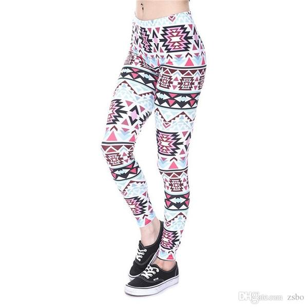 Women's 3D pants New Full Print Girl Skinny Stretchy Capris Tight fitting Elastic Slim Sprots Fitness Pencil Trousers Loose DDK5 MRFF