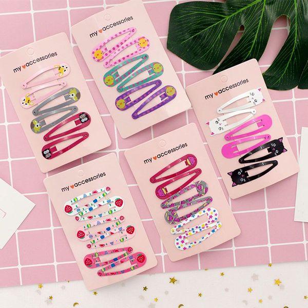 6pcs DIY Crafts Girls Hair Clip Hair Barrette Kit Infant Hairpin Kids Headwear