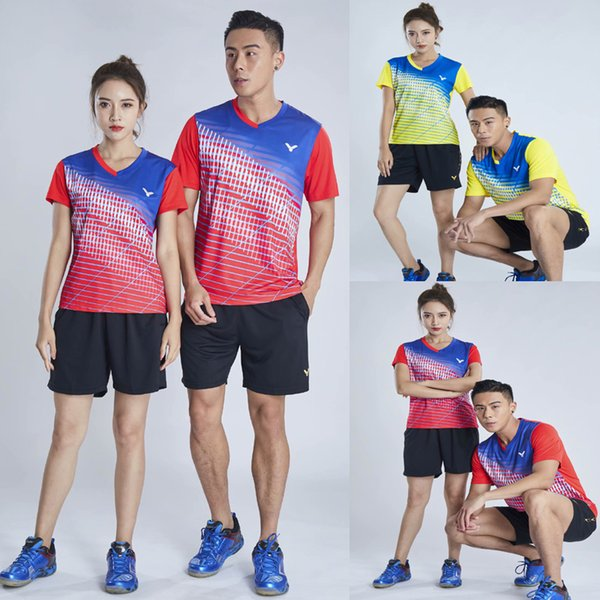 New VICTOR badminton wear t-shirt men and women suit Wickuo South Korea team competition tennis clothes quick-drying tennis shirt