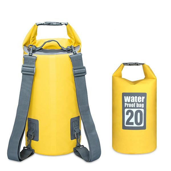 2018 New Pattern 5/10/15/20L Drift Waterproof Backpack PVC Waterproof Dry Bag Kayaking Swimming Package Sandy Beach Bag #324699