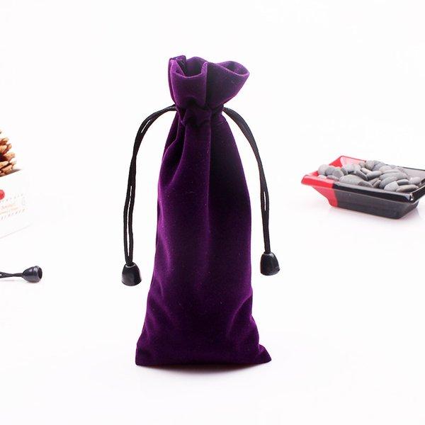Wholesale 50pcs/lot Jewelry Bracelet Necklace Pen Glasses Packaging Velvet Drawstring Bag Velvet Gift Pouches Accept Custom LOGO