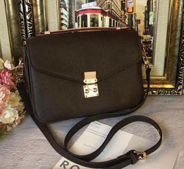 top popular Classic Messenger Bag Real Leather Women Designer Handbag Printing Flowers Totes Designer Bags Purse Shoulder Handbag Crossbody Bag M40780 2020
