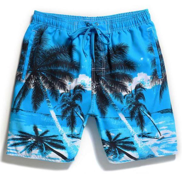 Mens Calções de Verão Calças de Praia Troncos de Natação Moda Masculina Vestuário Coco Impressão Plus Size Relaxado Vestuário