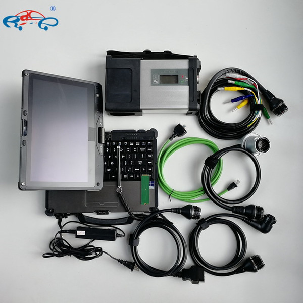 MB Star C5 con software V07.2019 in Mini SSD da 480 GB e laptop portatile Getac V110 I5 4G per strumenti di diagnosi automatica