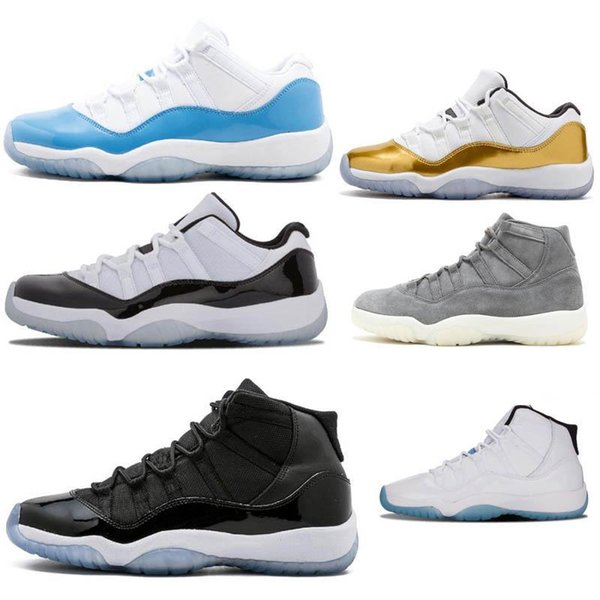 Concord High 45 11s Platinum Tint Cap und Gown Herren Basketball Schuhe Gym Red Bred Barons Space Jams 11 Herren Trainer Designer Sneakers