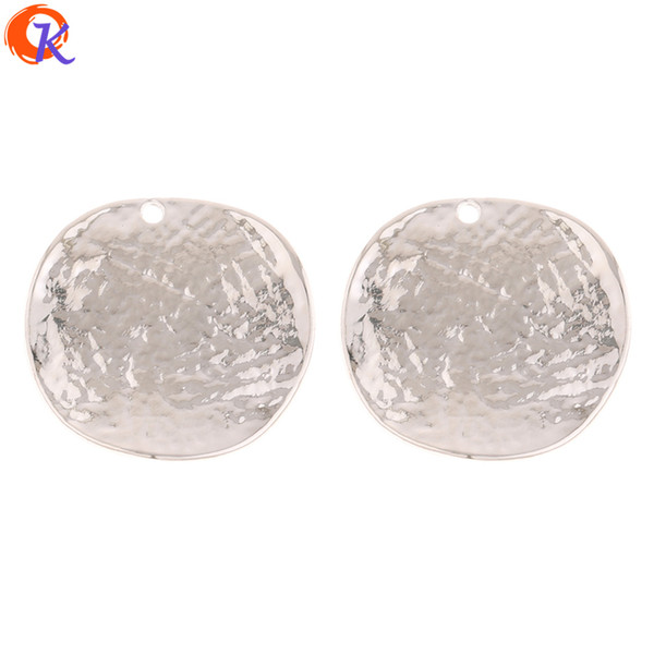 wholesale 50Pcs 29*30MM Jewelry Accessories/Earring Connectors/Wave Coin Shape/Hand Made/DIY Jewelry Parts/Earring Findings