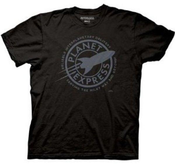 Adult Black Comedy TV Show Futurama Faded Planet Express Logo T-shirt Tee 100% Cotton Short Sleeve O-Neck T Shirt
