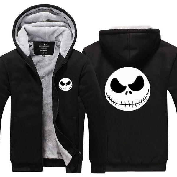 Jack skellington Halloween clown print skull face coat European size foreign trade dress with velvet black