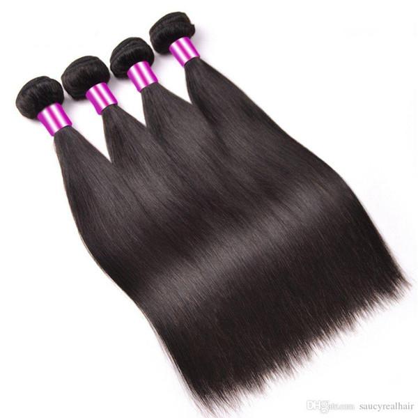 Fasci di capelli diritti vergini peruviani vergini all'ingrosso non trattati dei capelli dell'onda, 120g un pezzo 3pcs di lotto, trasporto libero