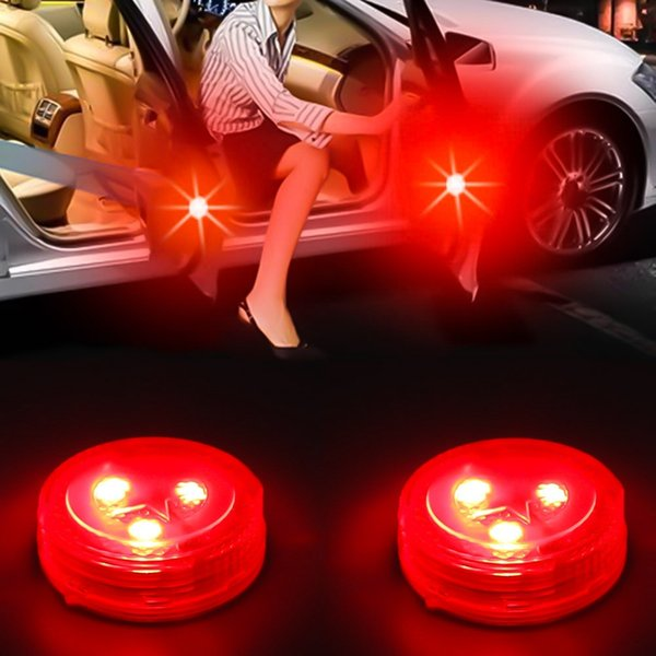 2pc Car Door Opening Warning LED Lamp Safely Flash Light Kit Wireless Anti-collid Car Styling