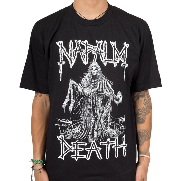 Authentic DEATH Band Reaper Skeleton Metal T-Shirt S-3XL NEWLoose Black Men T shirts Homme Tees
