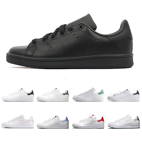 Designer Smith Shoes Flats Femmes Hommes Cuir Casual Chaussures Zebra Fleur Triple Blanc Noir Stan Planche À Roulette Sport Baskets 36-45 Vente En Ligne