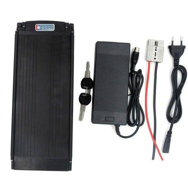 Custom 36V 10Ah / 20Ah / 25Ah Lithium Ion Battery Rear Rack Ebike Battery Li-Ion 36V Electric Bike Battery 1000W with Tail Light