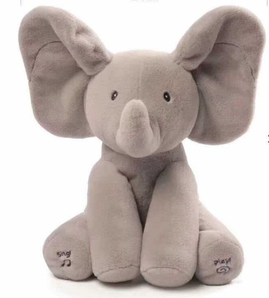 Music gray elephant singing storytelling electric toy ear flying will move to appease early childhood education doll