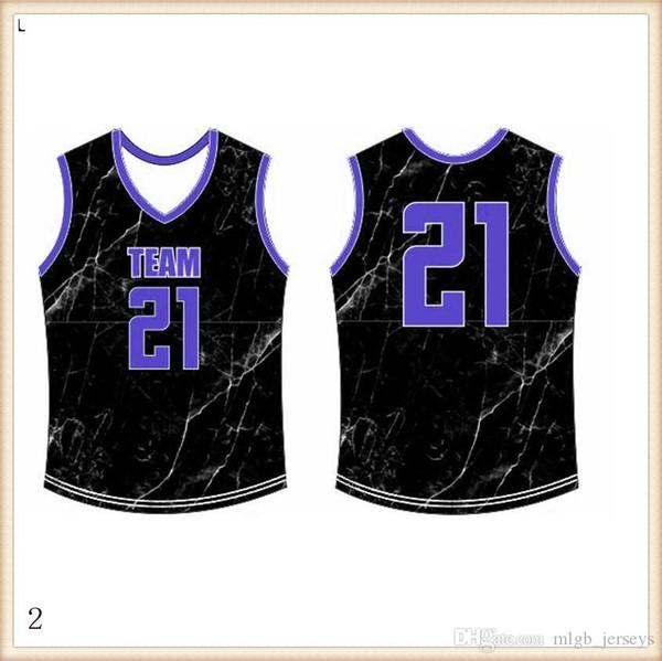 2019 2020 jerseys del baloncesto de secado rápido azul rojo bordado Logos barato libre al por mayor de los hombres el tamaño Jersey167