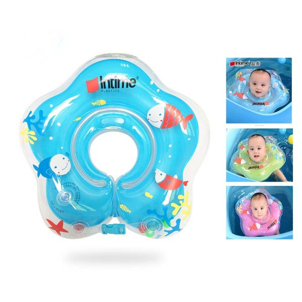 Baby swimming pool and accessories Swimming neck ring Inflatable Anti-backward Double balloon neck ring Thickening Adjustment